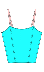 Coloured line drawing Style 110 Scoop Bodice